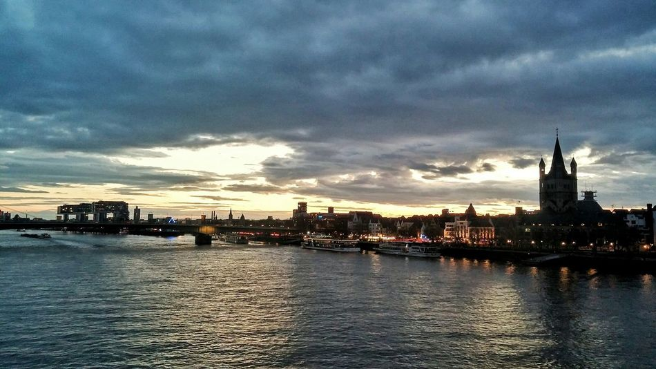 Germany Cologne Colorful Sky Reihn River