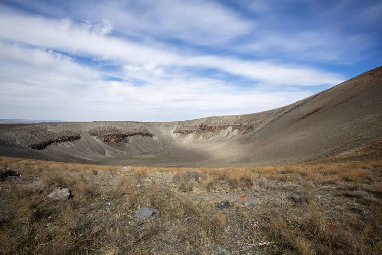 Sky Landscape Scenics - Nature Non-urban Scene Tranquil Scene No People Physical Geography Geology Mountain Arid Climate Arid Landscape Dry Mars Cloud - Sky