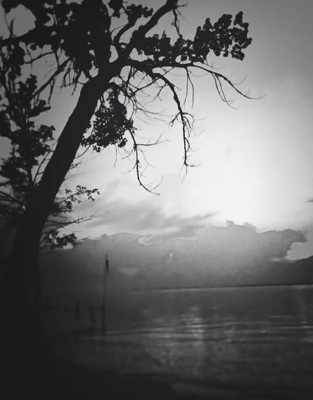 Black And White Lake View Landscape Dark Photography
