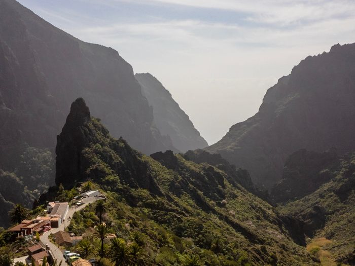 Masca Gorge, Tenerife, Canary Islands, Spain Masca Gorge Valley Tenerife Nobody Mountain Sight Village Mountain Scenics - Nature Architecture Nature Built Structure Beauty In Nature Sky Mountain Range Plant Tree Tranquility Tranquil Scene No People Travel Destinations Travel Tourism Outdoors