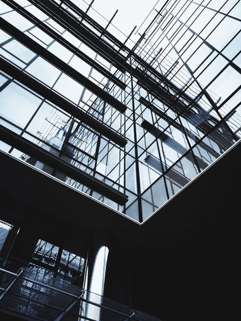 Mordor Corporate Mordor Low Angle View Built Structure Architecture Indoors  No People Ceiling Day Sky Glass - Material Transparent Skylight Modern Window