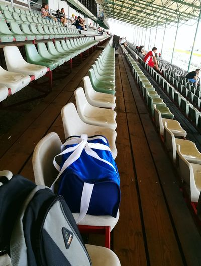 lines of seats EyeEmNewHere Motorsport Hungaroring Formula1 EyeEm Selects Outdoors Day Seat People