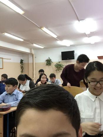 Haha! I'm invisible Classroom Headfie Selfie