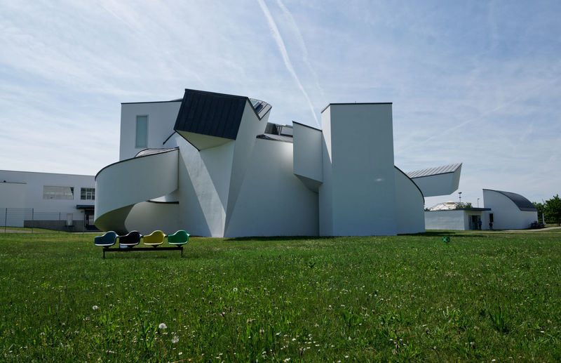 Architecture Architecture Building Exterior Built Structure Cloud - Sky Day Environment Factory Field Fuel And Power Generation Grass Green Color Industry Land Nature No People Outdoors Sky Sunlight Vitra Campus The Architect - 2018 EyeEm Awards