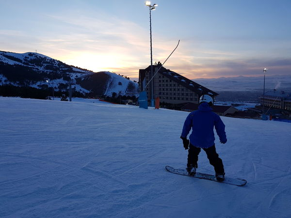 Palandoken mountain, Erzurum, Turkey Erzurum Piste Skiing Slopes Snowboarding Action Backdrop Beauty In Nature Cold Temperature Indoors  Landscape Leisure Activity Mountain Nature One Man Only Outdoors Palandoken Ski Sky Snow Snowboarder Sunset Sway Hotel Weather Winter