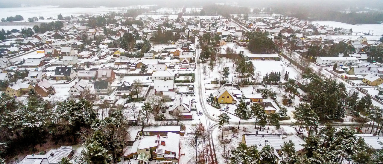 First snow in a small village in Lower Saxony, Germany, aerial view with drone Aerial Shot Drone  Drone Dji Drone Shot Winter Aerial Aerial Photography Aerial View Architecture Building Exterior Built Structure City Cityscape Cold Temperature Day Germany Nature No People Outdoors Sky Snow Town Tree Village White