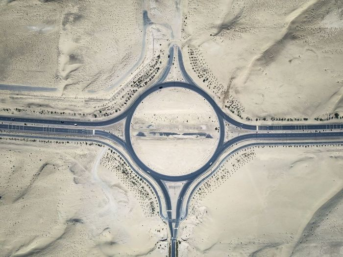 Perfect circle! Roundabout in Dubai Sand Full Frame No People Backgrounds Pattern Day Close-up Indoors  Fresh On Market 2017