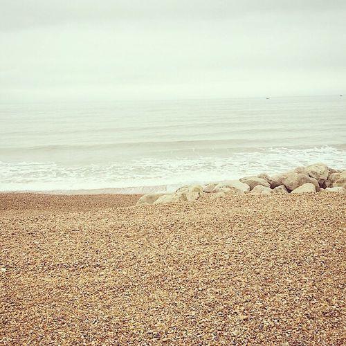 Walks along the beach, glad to get away! ⛅️🌊 Holidays ☀ Beach Ocean Sea Waves Sand Stones Pebbles