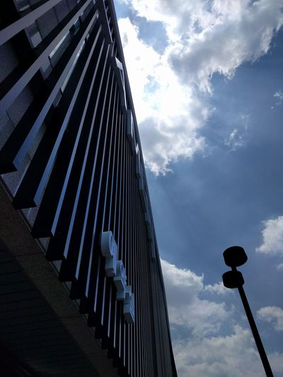Architecture Sky And Clouds Blue Sky Sunbeam Look Up The Sky