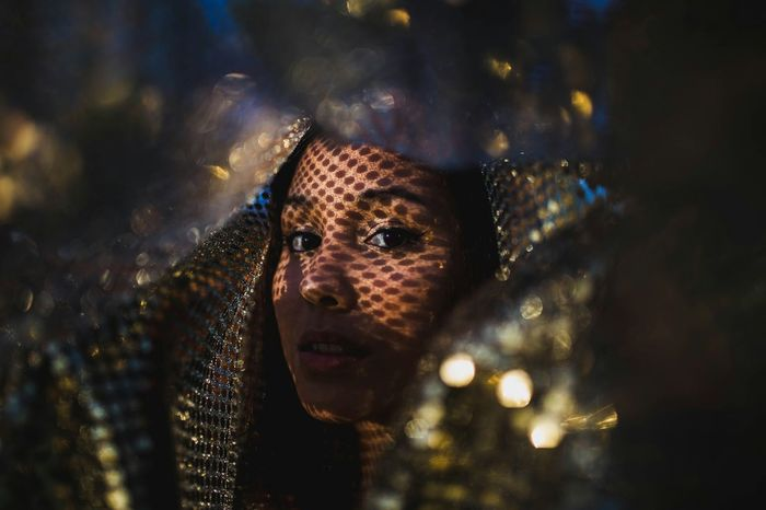Getting Creative Fabric Sequins Reflections Shadows Shadows & Lights Material Beautiful Girl Portrait Of A Friend Experimental Showcase: November November