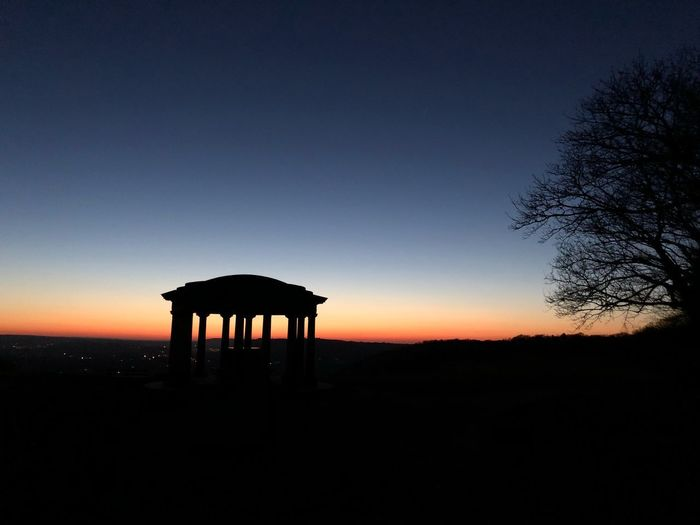 Silhouette Sunset Nature Beauty In Nature Scenics Tranquility Tranquil Scene Sky Built Structure No People