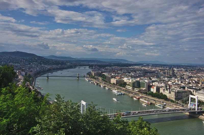 Elevated View Of Budapest From Buda Side Hungary