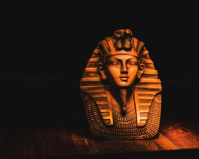 Egypt Sculpture Illuminated Long Exposure Business Finance And Industry Statue Black Background No People King - Royal Person Indoors  Day HUAWEI Photo Award: After Dark