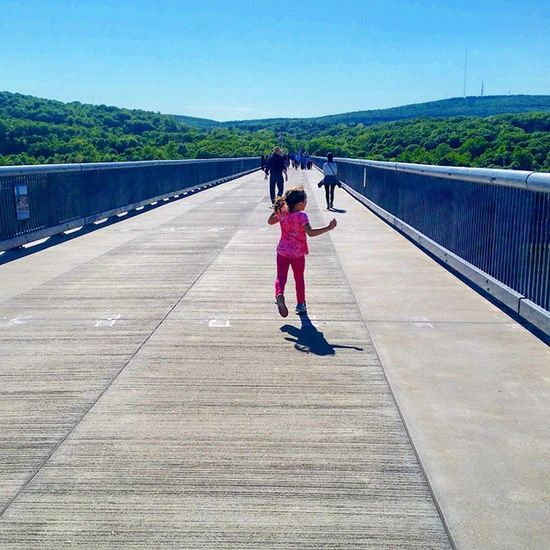 I hope her life is forever this carefree. Walkway Bridge Carefree Spring RunForever Summertime NY Poughkeepsie Latergram