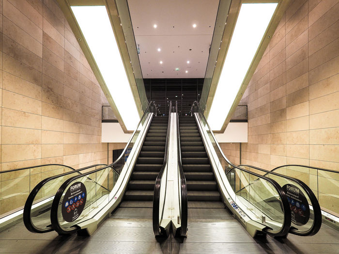 Architecture Escalator Indoors  Low Angle View Modern No People Steps Steps And Staircases Technology