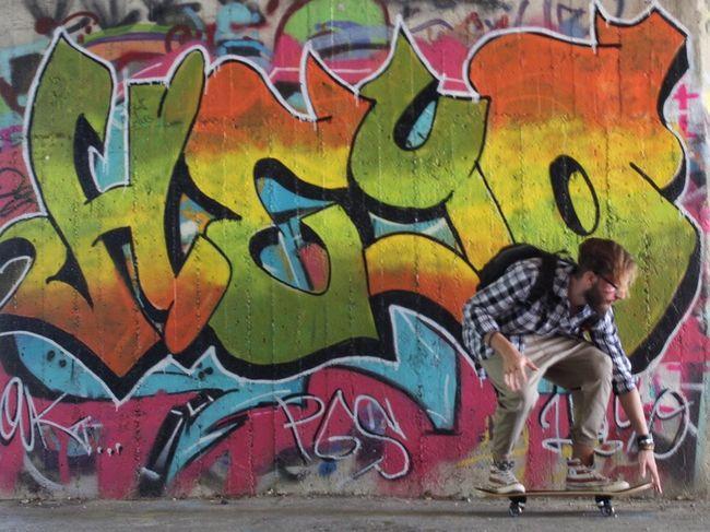 HEYO!! NevermindRecords Skateboarding Skateboard Sport Wall Art Streetart Murales Turin Italy
