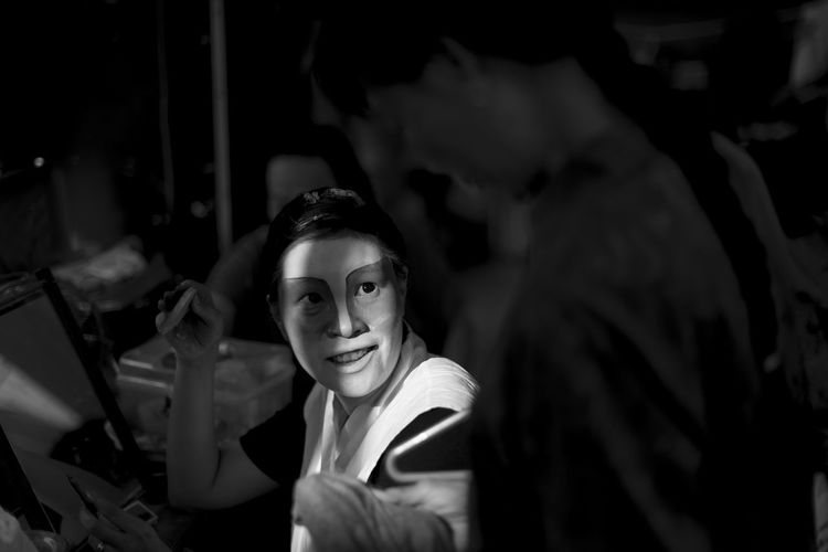 Shades Of Grey Portrait Of A Teochew Opera Singer Black And White Light And Shadow Traditional Culture Asian Girl Asia Art Form Painted Face Lady Makeup Artist Chinese Opera Troupe B&w Street Photography