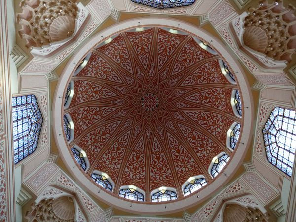 Ceiling Indoors  Low Angle View Architecture Window Ornate Pattern Day Place Of Worship No People Built Structure Architectural Design Close-up Dome Illustrative Editorial