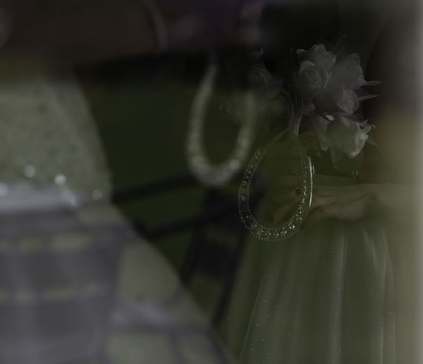 'Double exposure style bride and bridesmaid' Arty Shots Bride Bridesmaid Celebration Close-up Double Exposure Flower Fragility Freshness Garden Garden Furniture Lifestyles Lucky Charms Lucky Horseshoes Sparkle Table And Chairs Wedding Wedding Day