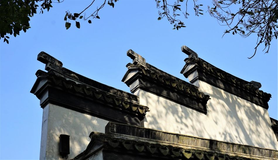 Architecture Building Exterior Built Structure Cloud - Sky Day Low Angle View No People Oldtown Outdoors Sculpture Sky Sunlight Suzhou, China Tree