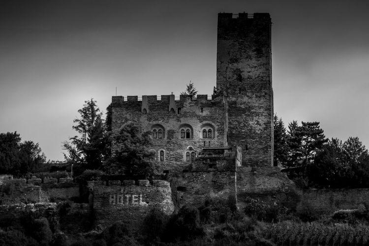 Hotel in old Rhine River castle, Germany Ancient Architecture Built Structure Converted Building History Hotel No People Rhine River Room For Text Room With A View The Architect - 2017 EyeEm Awards The Past