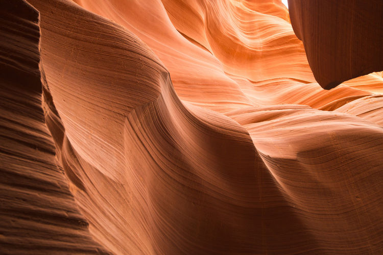 Rock formations at antelope canyon