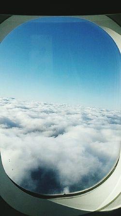 Über Den Wolken... No People Cloud - Sky Airplane Sky Nature