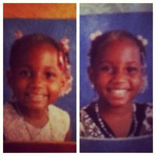 Me On The Left With My Twin. In 2nd Grade ! My Chubby Cheeks Thoughhh !