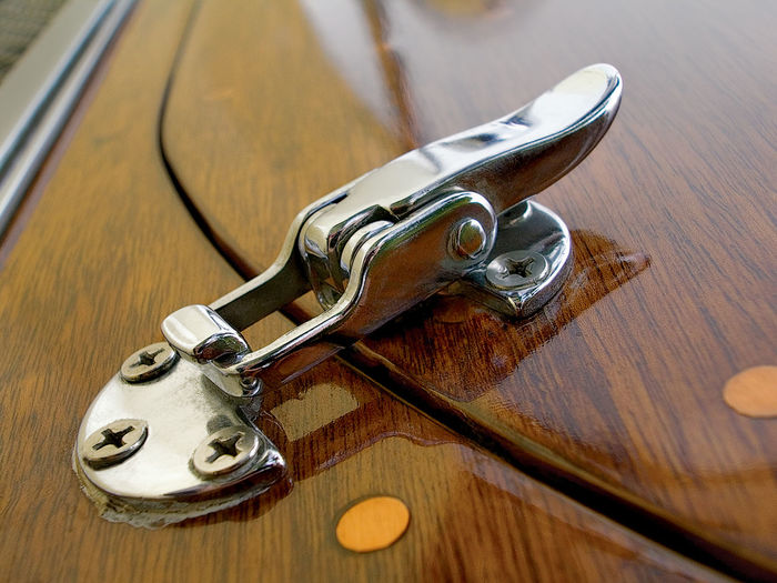 High angle view of key on table