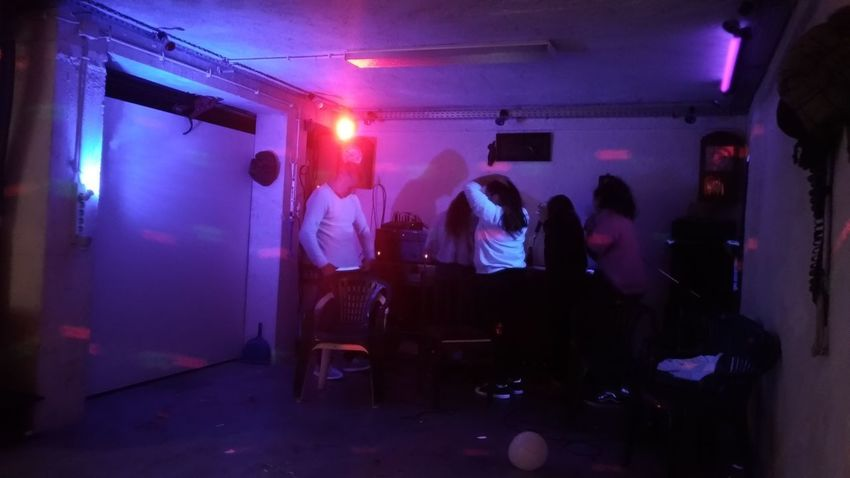 Nightclub Nightlife Performance Arts Culture And Entertainment Men Illuminated Musician Dj Stage - Performance Space