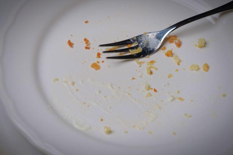 I killed the cake😆 Empty Plate EyeEm Selects Eating Utensil Plate Fork Kitchen Utensil Leftovers Indoors  Eaten Fork Crumb Spoon Empty