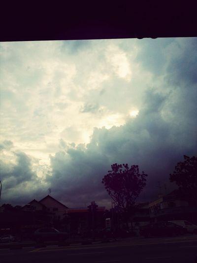 Dark clouds looming