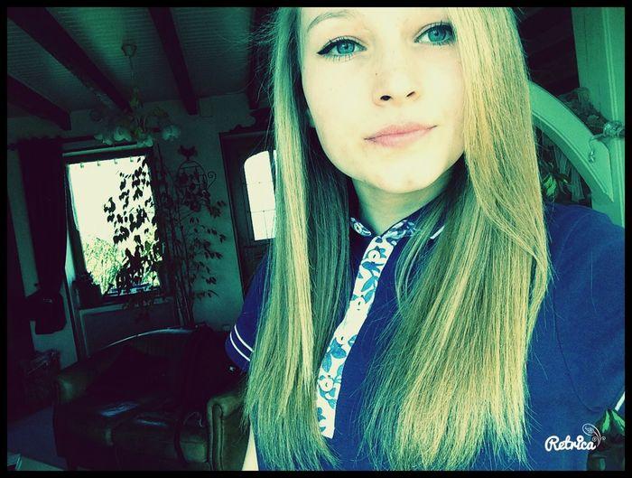 Blonde Girl Polo Blue Eyes