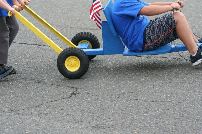 4th Of July 2016 4th Of July Parade American Flag Casual Clothing Celebration Cub Scouts Day Leisure Activity Lifestyles Outdoors Parade Part Of Road Soap Box Derby