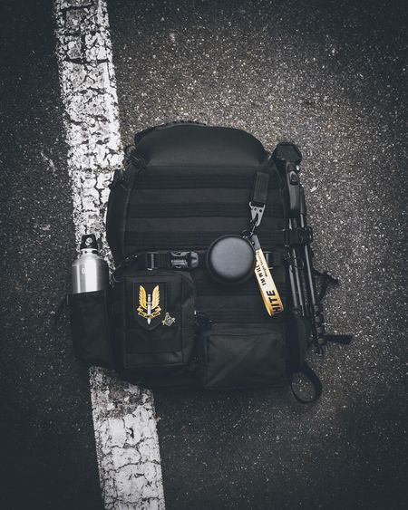 Backpacking Streatwear Tech Techwear Hypebeast  Camera - Photographic Equipment Camera Camerabag Backpack High Angle View Still Life Indoors  No People Music Bag Musical Instrument Directly Above