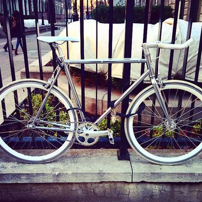 Fixie Chrome Silver  Bike