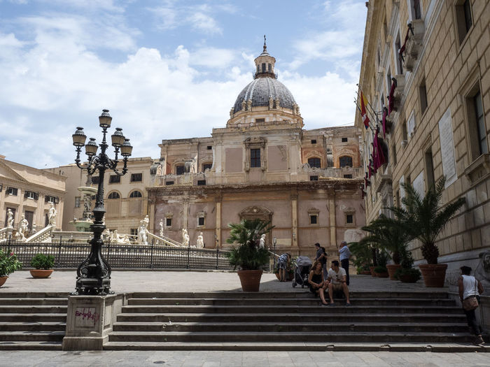 Architecture Building Exterior Church City Comune Horizontal Monument Palermo Piazza Delle Vergogne Politics And Government Sicily