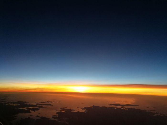 38000 Feet Sunset Sky