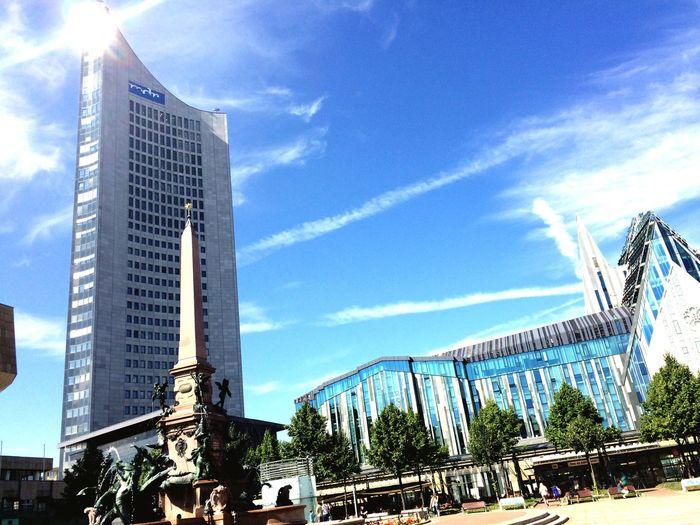 Augustusplatz Panorama Tower Sonnenschein  Leipzigcity Relaxing Beautiful Day