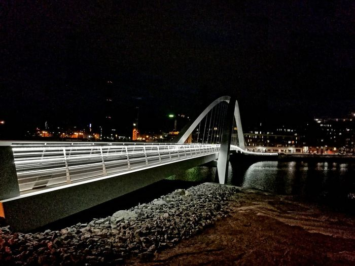 Bridge - Man Made Structure Transportation Night Connection Illuminated No People Water Sky Autumn Scenics Travel Destinations Architecture Low Angle View Built Structure Astronomy Outdoors Star - Space Bridges Bridge Bridge Photography Helsinki Visithelsinki Bridgesaroundtheworld