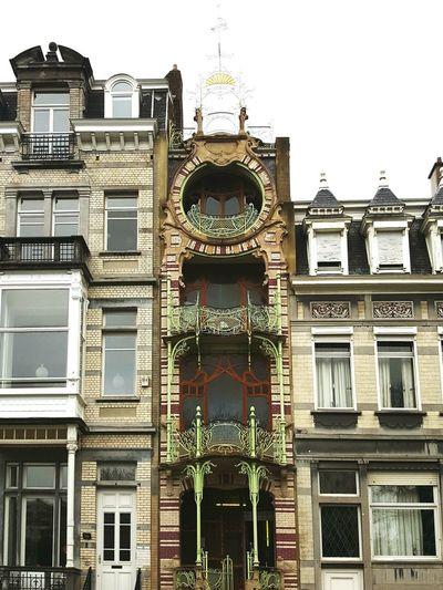 Façades of Brussels Architecture Building Exterior Window No People Built Structure Façade Art Nouveau Brussels Maison Saint-Cyr Gustave Strauven