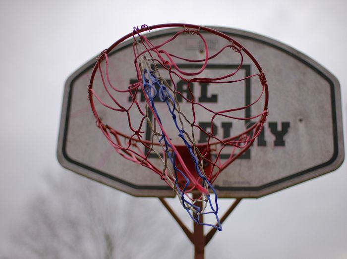 Mitakon35mmf095 Basketball Hoop Basketball - Sport Net - Sports Equipment Focus On Foreground Close-up Low Angle View Sports Equipment No People Red Shape