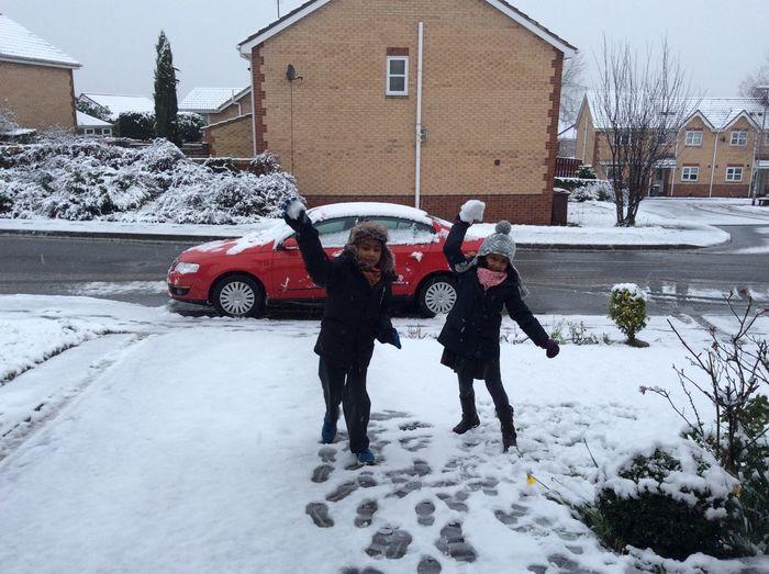 Adam Miah Amelia Miah Snow Fight
