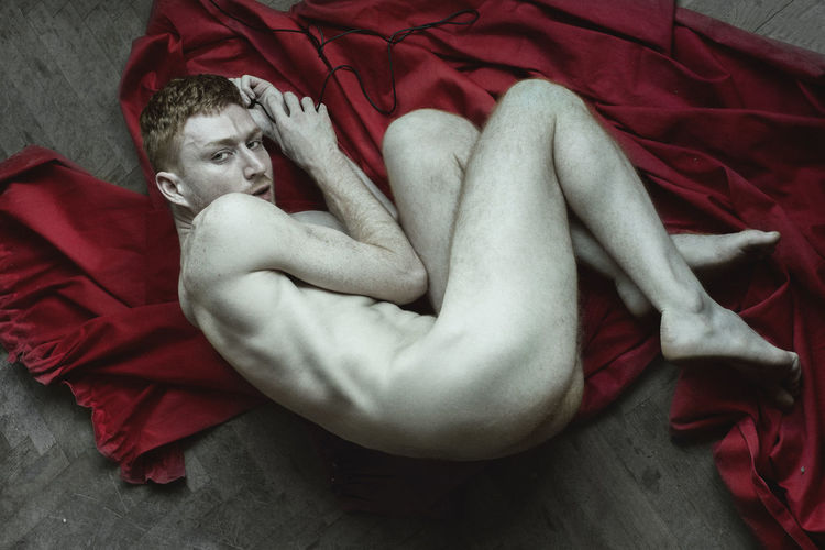 Self-portrait Tbilisi Georgian Georgian Photographer High Angle View Indoors  Lahafox Lifestyles Looking At Camera Lying Down Male Males  Men Mood Nüde Art. One Person Queer Real People Red Self Portrait Selfie Shirtless Tsertsvadze