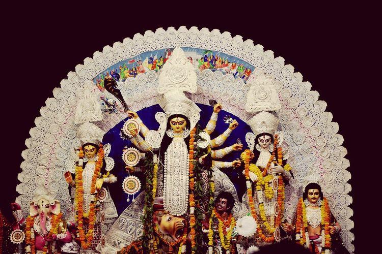 Durgapuja Kolkata Delhi Bengali Bengalifestival Bengali Festival Multi Colored Astrology Sign Close-up Art