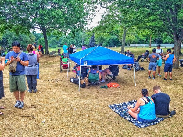 Pokemon Go Encampment... Stratford Connecticut USA New England  Academy Hill Pokemon Go Pokémon PokemonGo Pokemon Hunting Park People Outside Outdoors Humans HUMANITY People Together Summer Summertime July