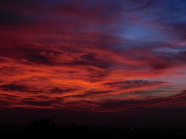 Inky Sunrise Sky Cloud Cloud - Sky Clouds And Sky Colourful Clouds Cloud Painting Sunrise Sunrise Mood Sky Moods Tranquility Nature Painting Cloud Patterns Cloud Pattern Orange Violet Sky  Golden Sky Sky Character