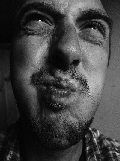 Close-up of man face