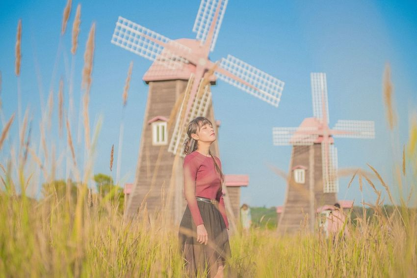Rural Scene Tourism Females One Person Nature Outdoors People Sky Architecture Day Adult Human Body Part