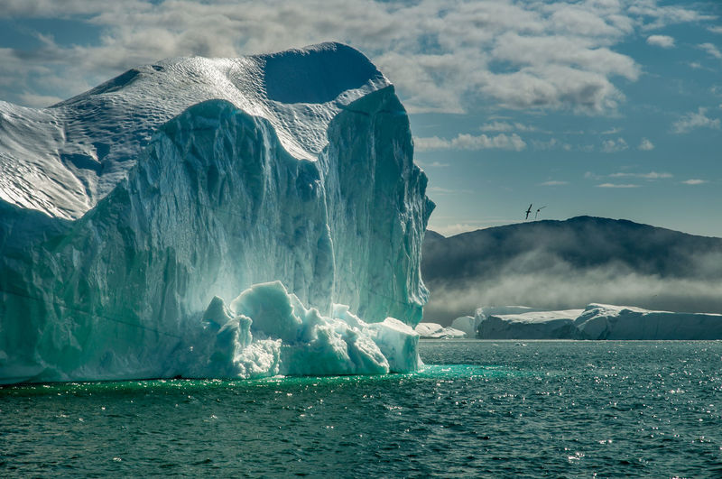 Beauty In Nature Cold Temperature Frozen Greenland Ice Iceberg Nature No People Outdoors Water Breathing Space Perspectives On Nature
